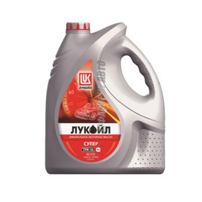 Моторное масло Лукойл СУПЕР 20W-50, 5л, минеральное