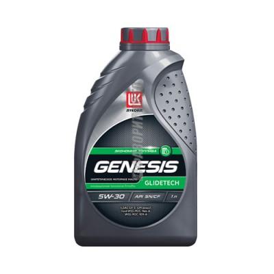 Моторное масло ЛУКОЙЛ GENESIS GLIDETECH 5W-30, 1л, синтетическое