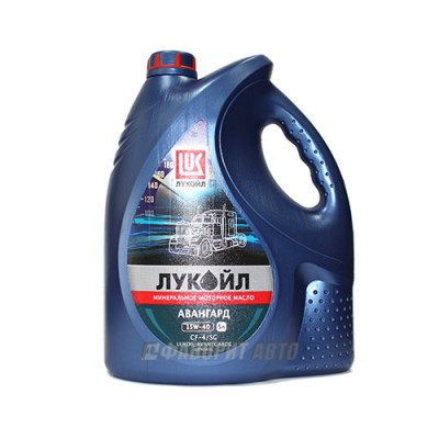 Моторное масло Лукойл АВАНГАРД 15W-40, 5л, минеральное