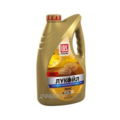 Моторное масло Лукойл ЛЮКС 5W-40, 4л, полусинтетическое