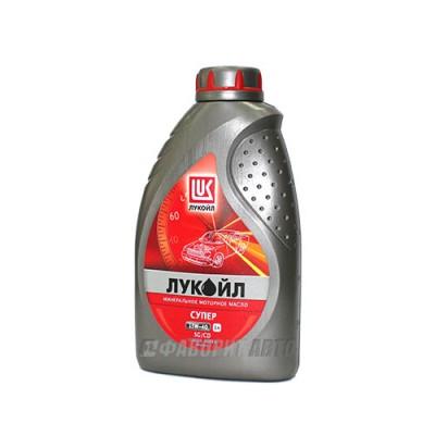 Моторное масло Лукойл СУПЕР 15W-40, 1л, минеральное