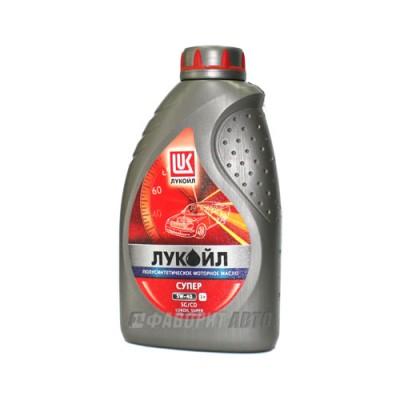 Моторное масло Лукойл СУПЕР 5W-40, 1л, полусинтетическое