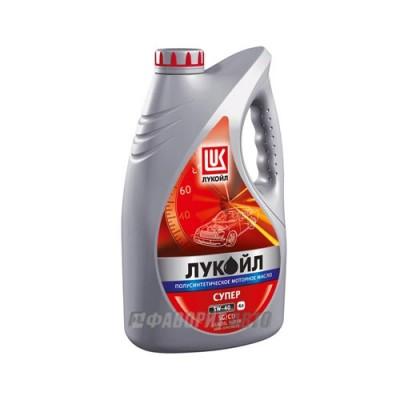 Моторное масло Лукойл СУПЕР 5W-40, 4л, полусинтетическое