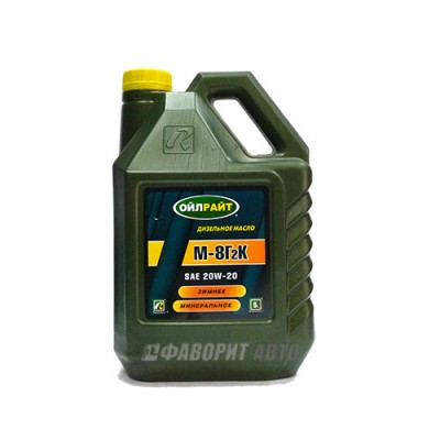 Моторное масло OIL RIGHT М-8Г2К SAE 20W-20, 5л