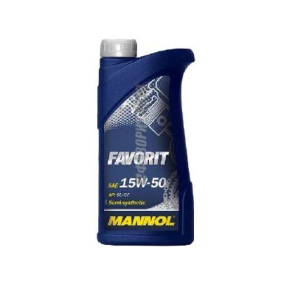 Моторное масло MANNOL Favorit 15W-50, 1л, полусинтетическое