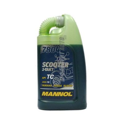 Моторное масло MANNOL 2-T Scooter, 1л, синтетическое