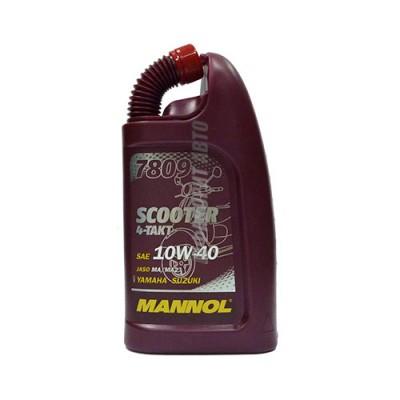 Моторное масло MANNOL 4-TAKT 10W-40 Scooter, 1л, синтетическое