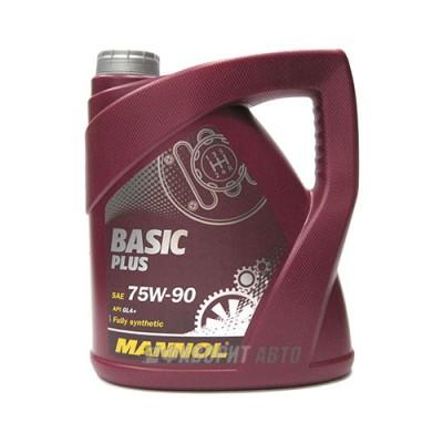 Трансмиссионное масло MANNOL 75W-90 Basik Plus, 4л, синтетическое