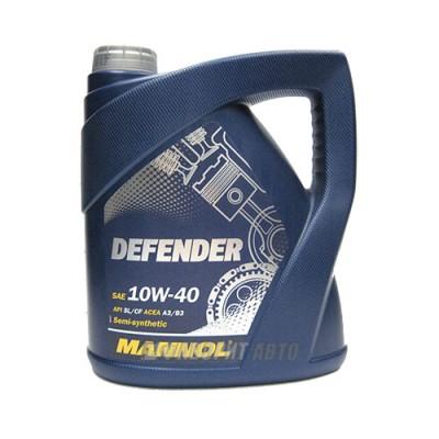 Моторное масло MANNOL Stahlsynt Defender 10W-40, 4л, полусинтетическое