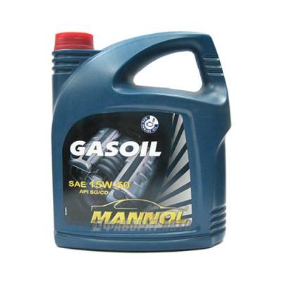 Моторное масло MANNOL Gasoil 15W-50, 5л, минеральное