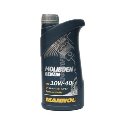 Моторное масло MANNOL MOS Benzin 10W-40, 1л, полусинтетическое