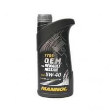 MANNOL  O.E.M. for Renault, Nissan, Infiniti  5*40   1л  син