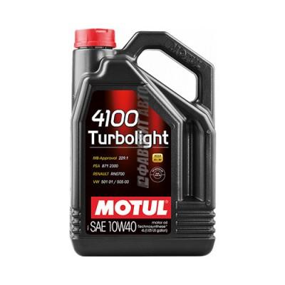 Моторное масло MOTUL 4100 Turbolight 10W-40, 4л, полусинтетическое