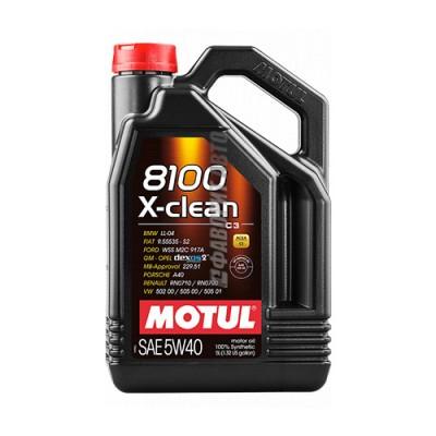 Моторное масло MOTUL 8100 X-clean 5W-40, 5л, синтетическое