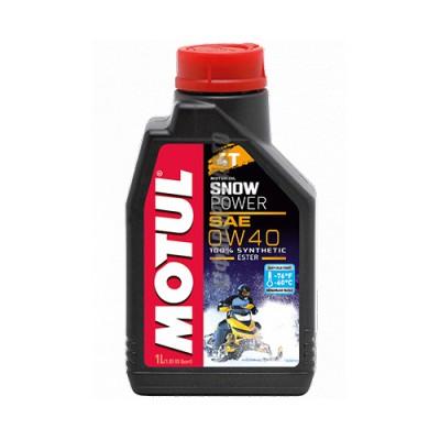 Моторное масло MOTUL Snowpower 4T 0W-40, 1л, синтетическое