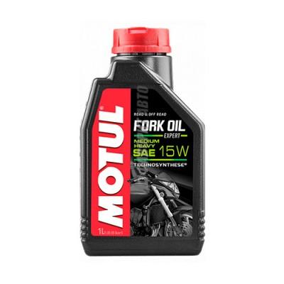 Гидравлическое масло MOTUL Fork Oil Expert medium/heavy 15W, 1л, полусинтетическое