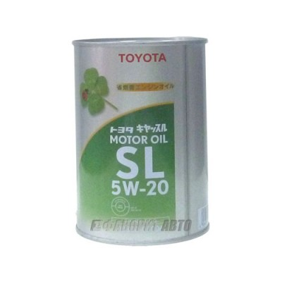 Моторное масло TOYOTA 5W-20, 1л, синтетическое