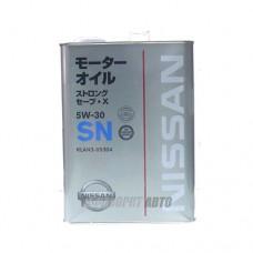 NISSAN  SN Strong Save X 5W30  4л  (KLAN3-05304) (железн. банка)