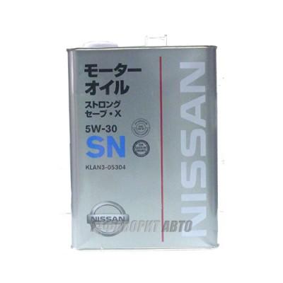 Моторное масло NISSAN 5W-30 FANFARO, 4л, синтетическое