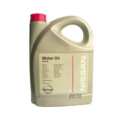 Моторное масло NISSAN Motor Oil 5W-40, 5л, синтетическое