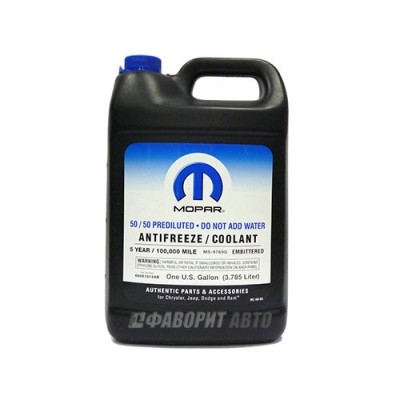 Антифриз Mopar Prediluted coolant 5-year, 3,78л