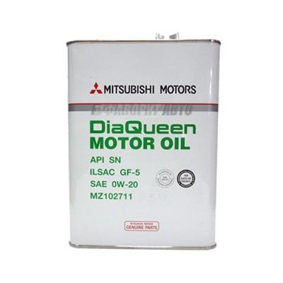 Моторное масло MITSUBISHI Motor Oil 0W-20, 4л, синтетическое