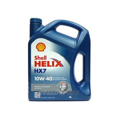 Моторное масло SHELL Helix HX7 10W-40, 4л, полусинтетическое