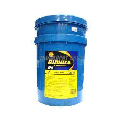Моторное масло SHELL Rimula R5 E 10W-40, 20л, полусинтетическое