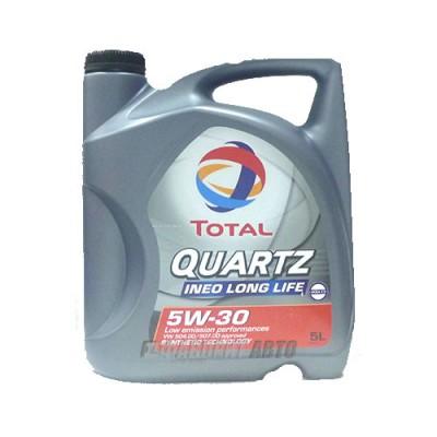 Моторное масло TOTAL Quartz INEO LONG LIFE 5W-30, 5л, синтетическое