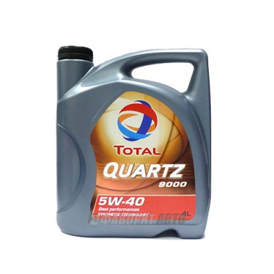 Моторное масло TOTAL Quartz 9000 5W-40, 4л, синтетическое