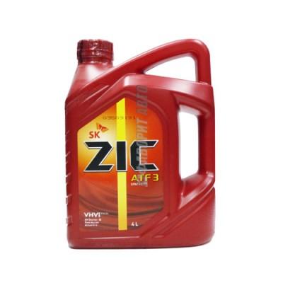 Трансмиссионное масло ZIC ATF 3, 4л, синтетическое