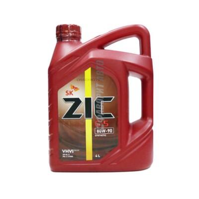Трансмиссионное масло ZIC 80W-90 G5, 4л, синтетическое