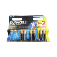 Батарея Duracell LR6 BL8 TURBO 3772